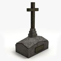 gravestone ready unity 3d obj