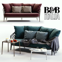B&B Italia ERICA Blue&Red Sofa