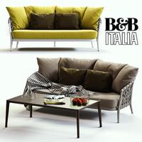 3d b italia erica sofa model