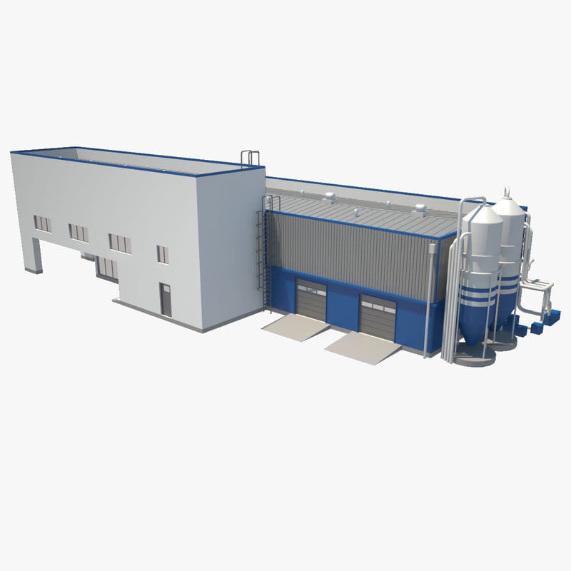 3d industrial building