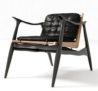 3d model of atra lounge chair