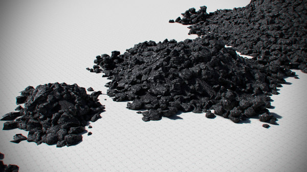 3d coal pack - black