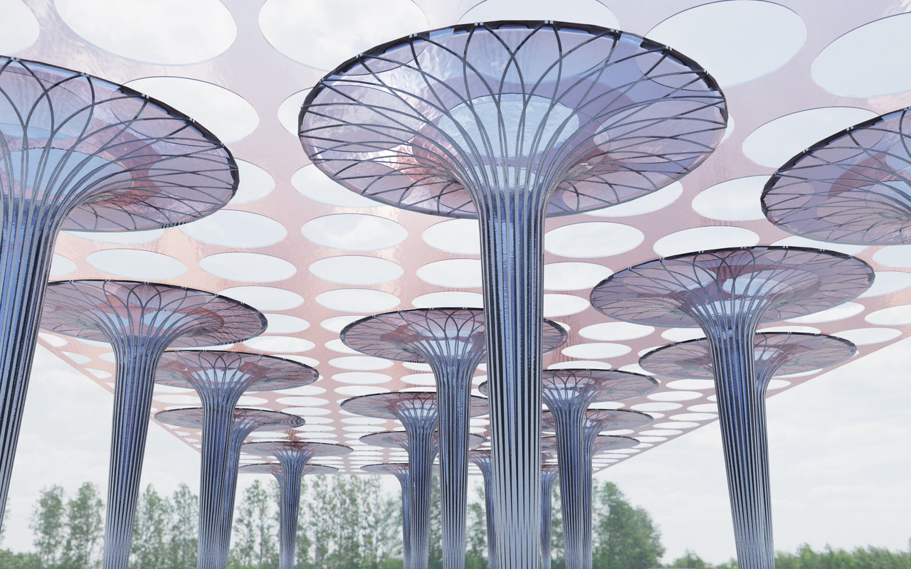 3d model structure glass