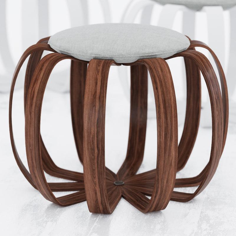 porada kiko stool 3d model