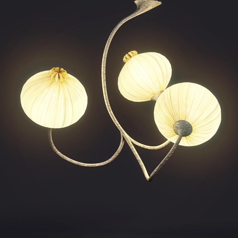pendant light aqua creations 3d model