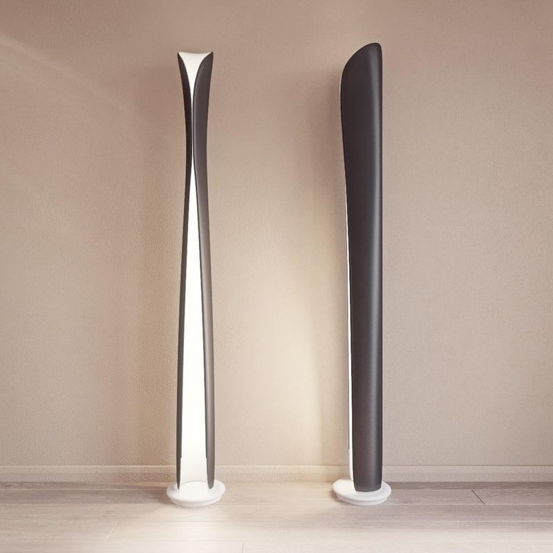 cadmo floor lamp artemide 3d 3ds