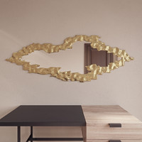 Cloud gold frame mirror