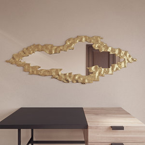 cloud gold frame mirror 3ds