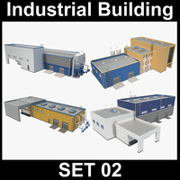 industrial building 3ds