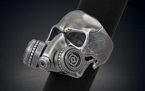 3d model printing skull ring