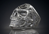 Ring Masonic Skull Freemasons Ring