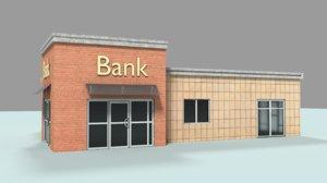 bank asset 3d model