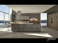 3d kitchen scene 10