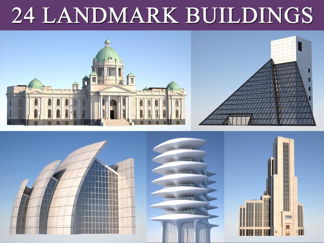landmark municipal buildings 3d 3ds