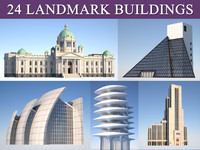 landmark municipal buildings 3d 3ds
