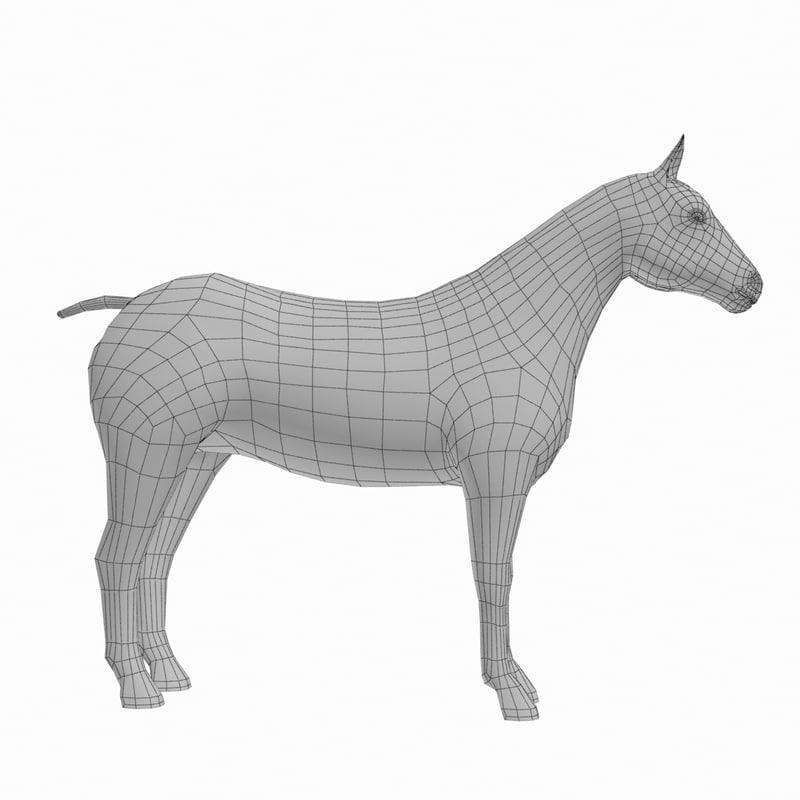 3d base mesh model