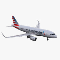 3d a319 american airlines model