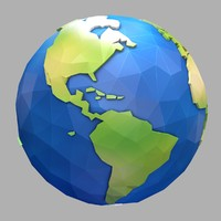3d cartoon earth model