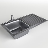 kitchen sink drainboard 3d model