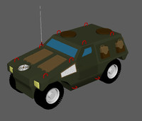 jeep panhard vbl tow 3d model