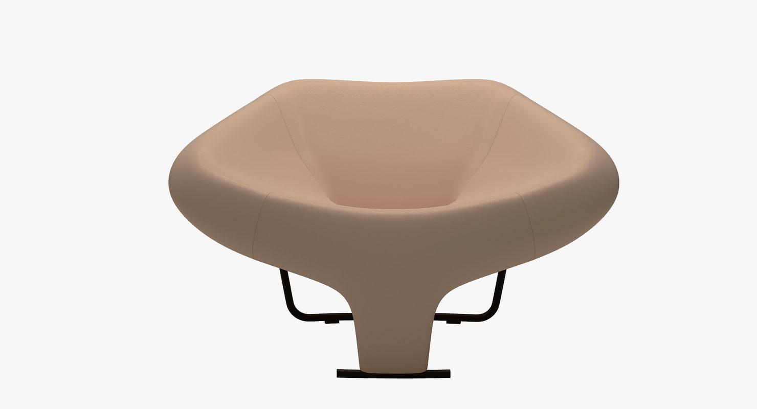 dc102 armchair vincenzo cotiis 3d model