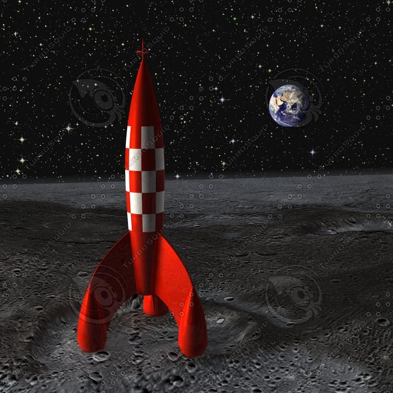 tintin rocket 3d wrl