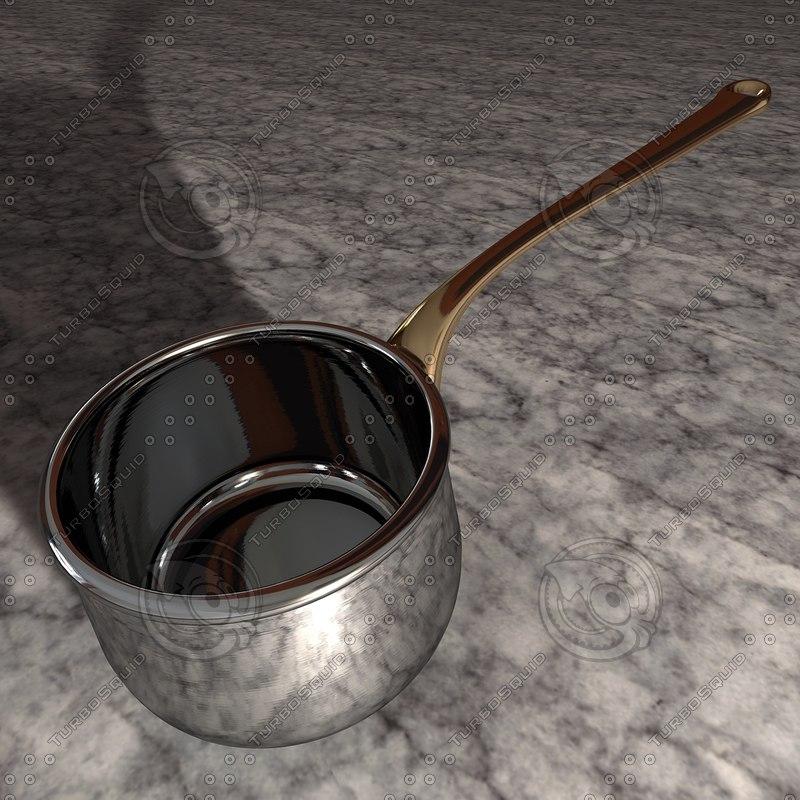 3d kitchen saucepan