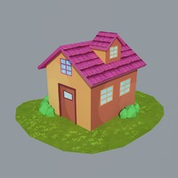 3d max cartoon house 3