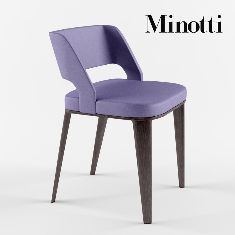 minotti owens chair 3d max
