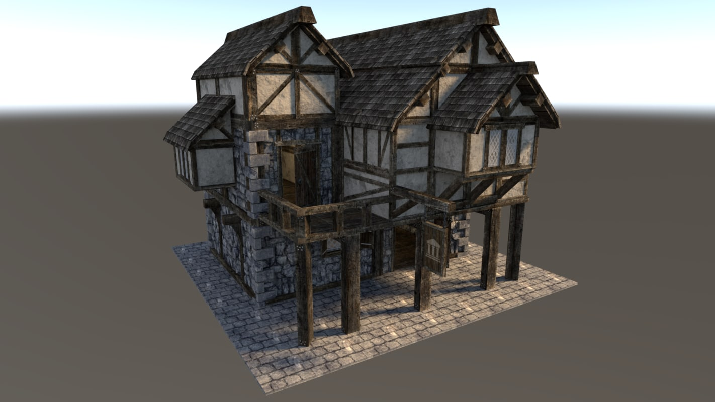 medieval city house 3d model