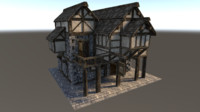 Medieval City House 02