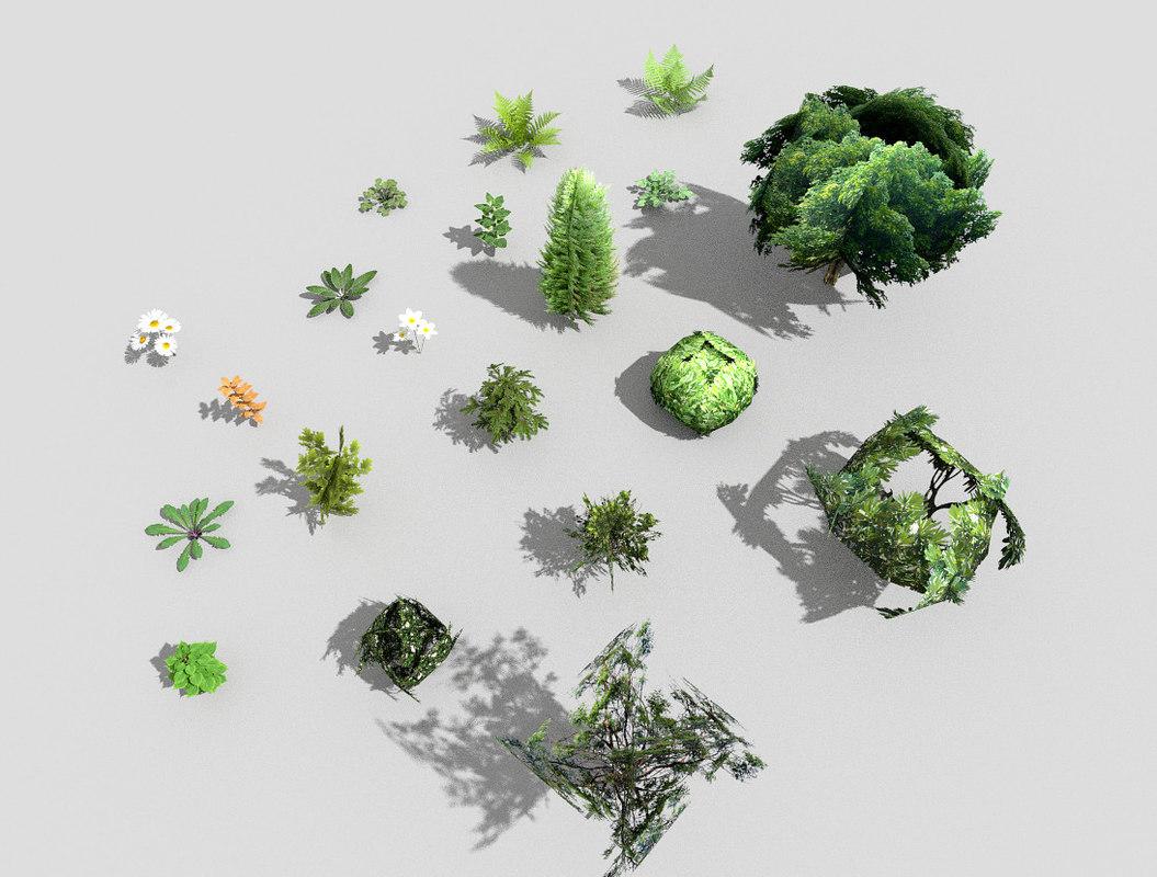 3d fbx plants