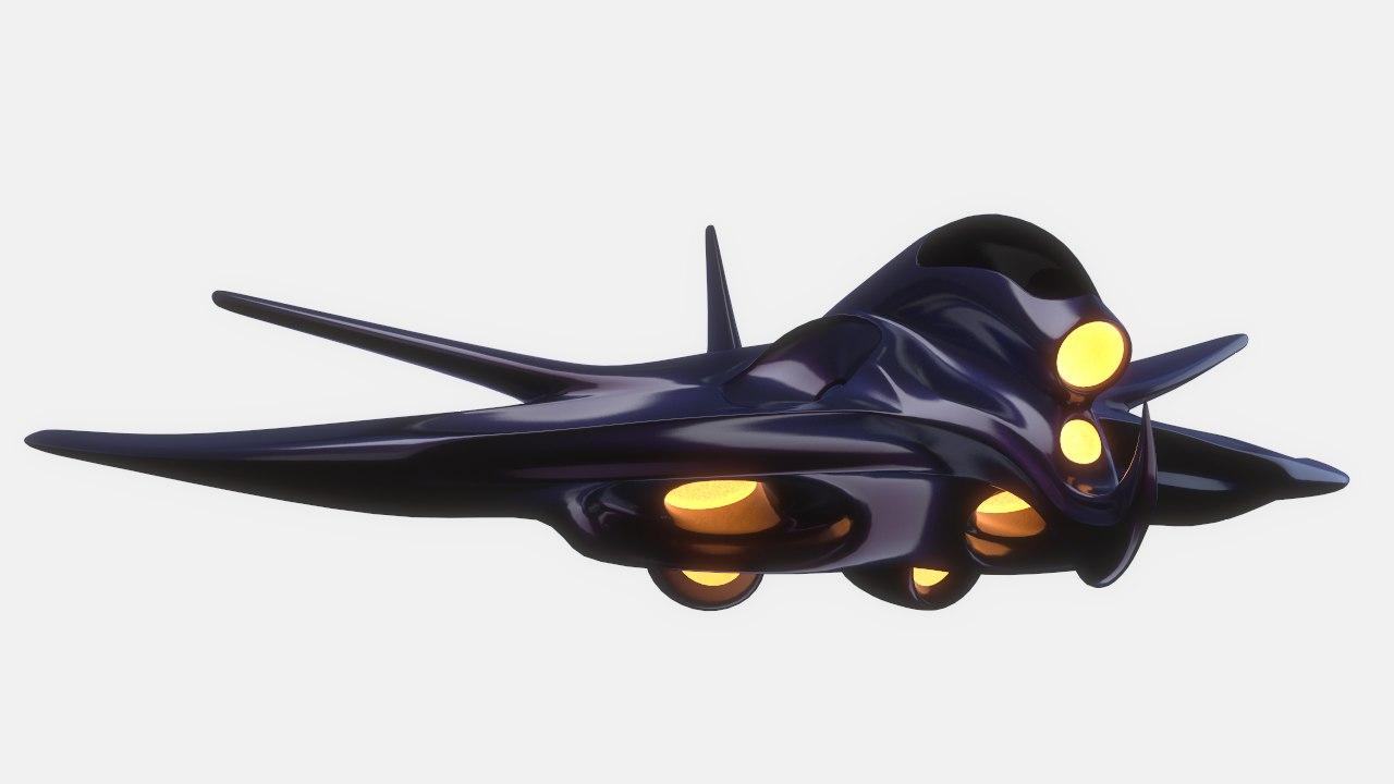 3d sci fi spaceship model