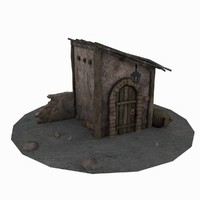 old shed 3d max