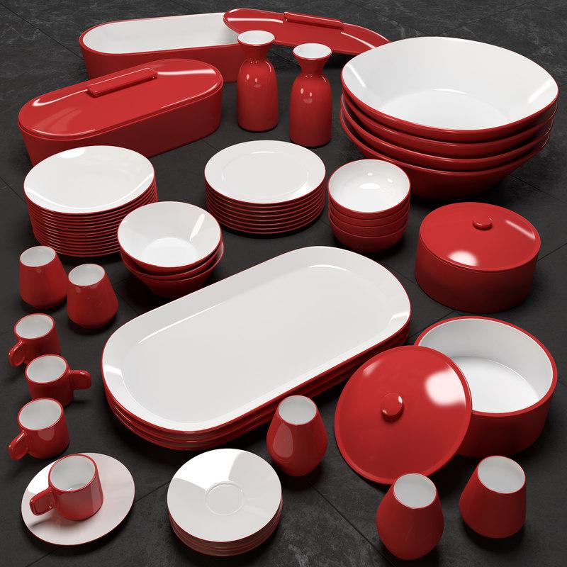 plates dishware 3d model