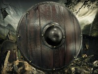 3d model viking shield