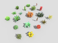 low poly plants collection
