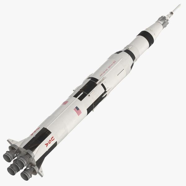 saturn v rocket 3d model