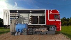 truck water tank 3d model