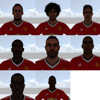 3d model 8 manchester united players