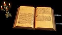 old magic book scene 3d max