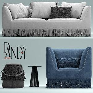 gamma marilyn armchair 3d max