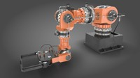 robotic arm rigged scene 3d fbx