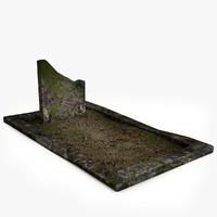 Lowpoly Gravestone 13