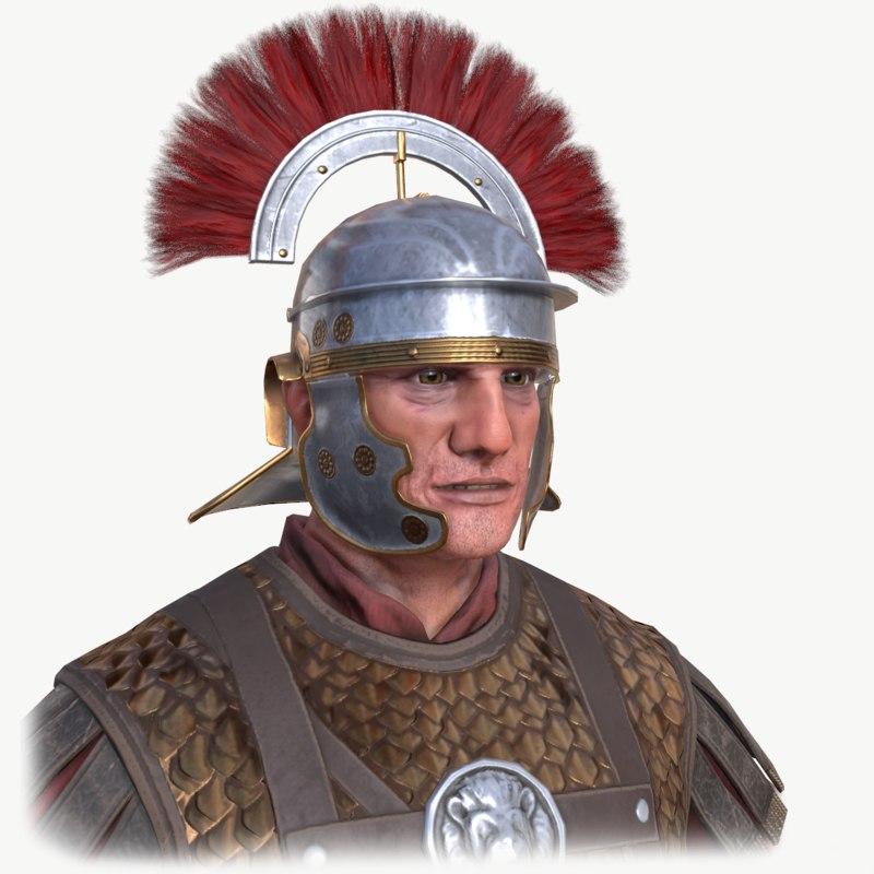 historical roman centurion c4d