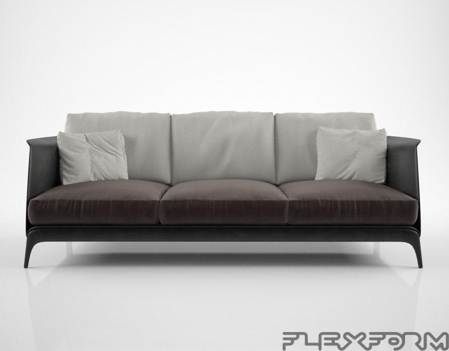 flexform isabel sofa 3d model