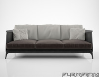flexform isabel sofa 3d model