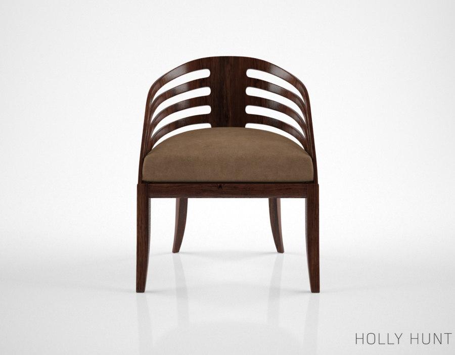 3d holly hunt rib chair