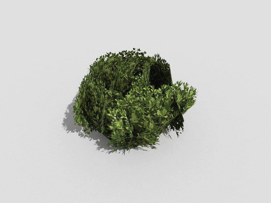 3d 3ds shrub