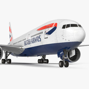 boeing 777-200 british airways 3d max